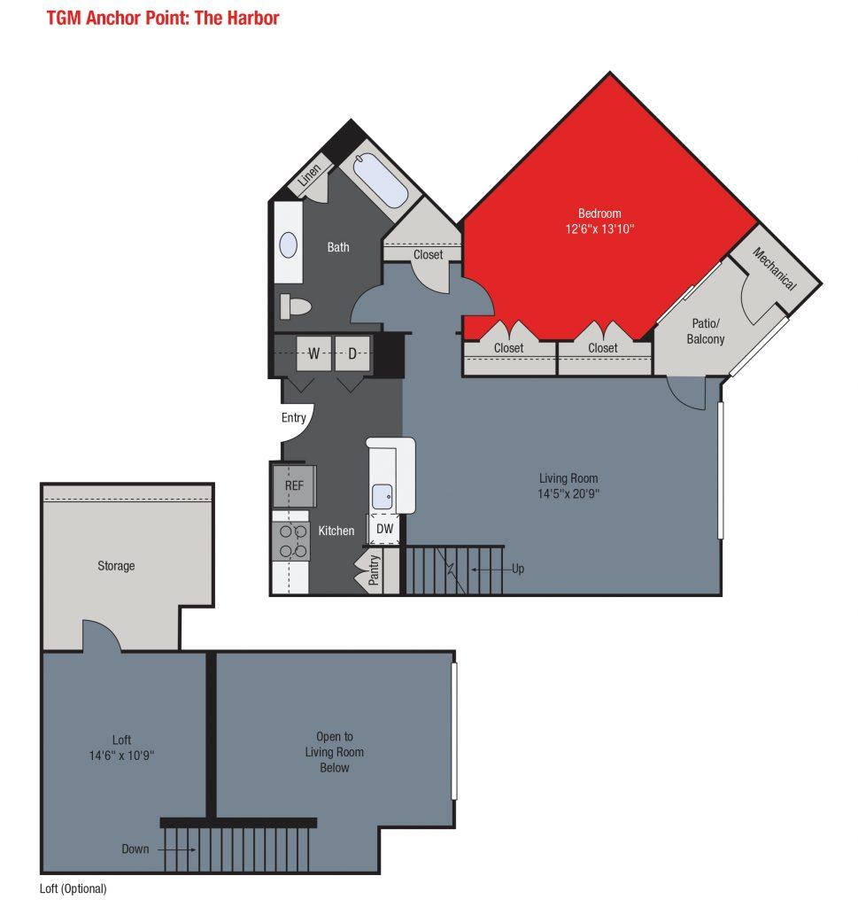 Apartments For Rent TGM Anchor Point - Essex Loft