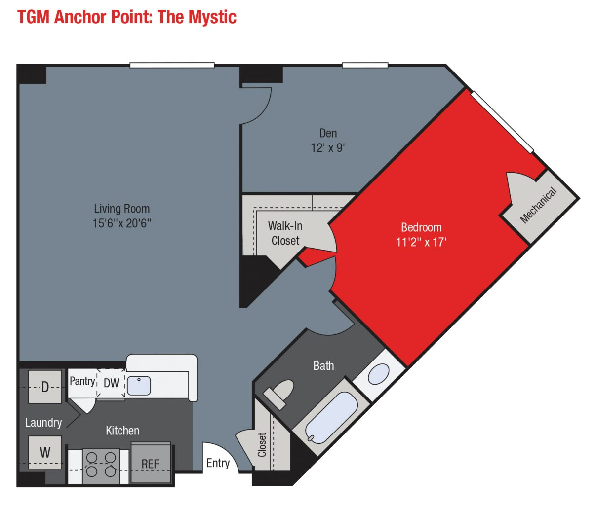 Apartments For Rent TGM Anchor Point - Mystic