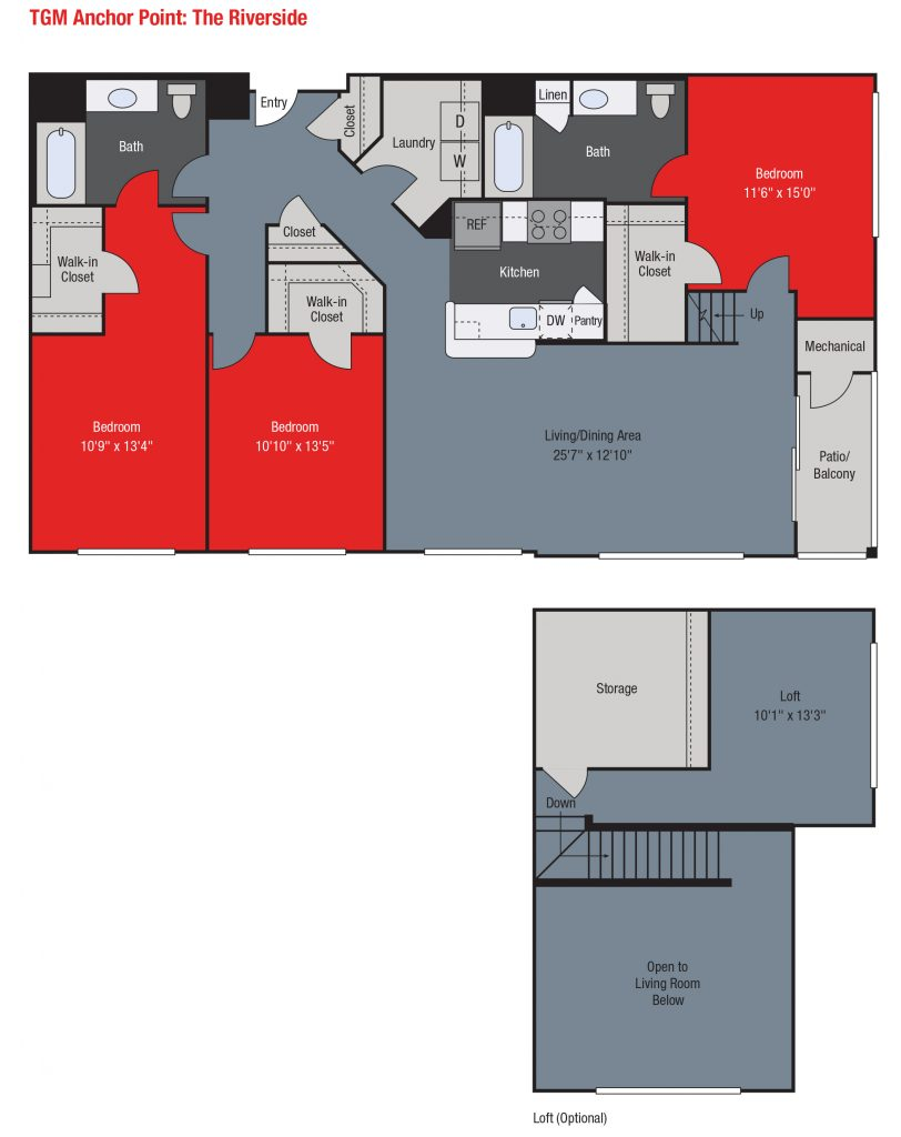 Apartments For Rent TGM Anchor Point - Riverside