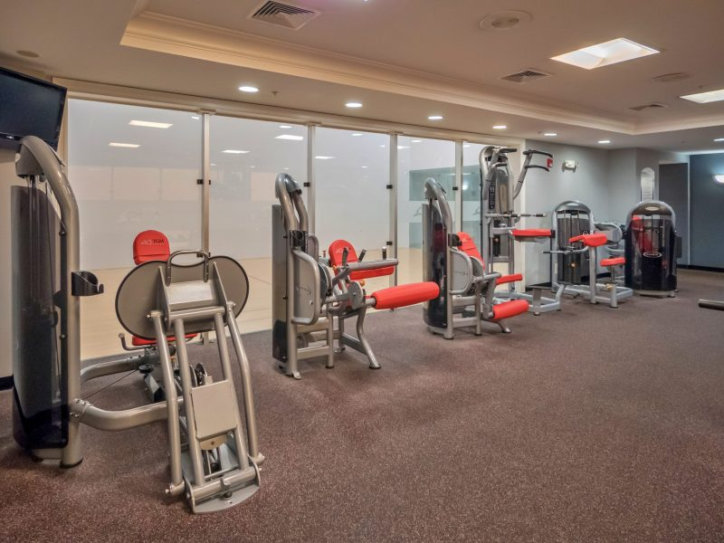 This image shows the 24-hour State-of-the-art fitness gym featuring different equipment that is essential for community amenities.