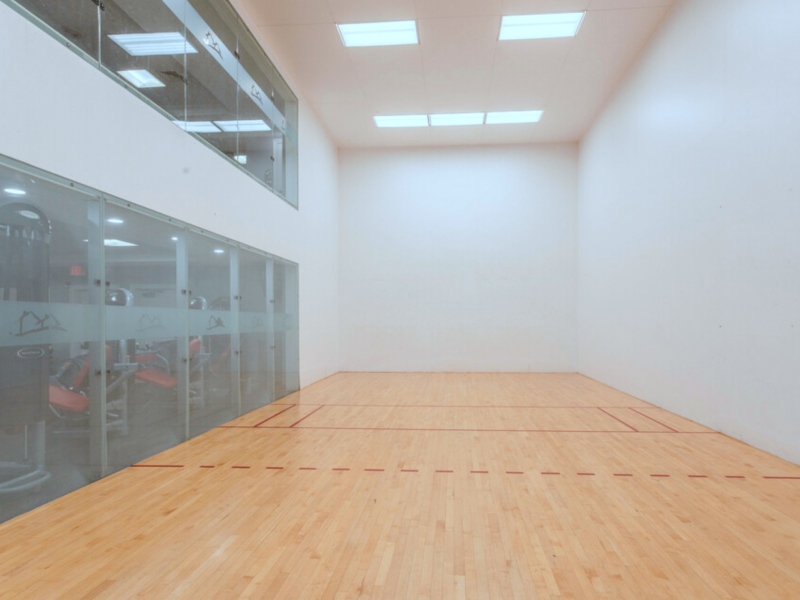 This image shows the Indoor racquetball that's ideal for weight loss activity, as well as workout.