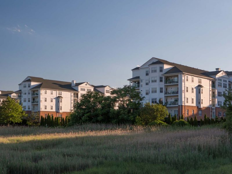 This image shows the perfect view of the TGM Anchor Point Apartment from the riverside.