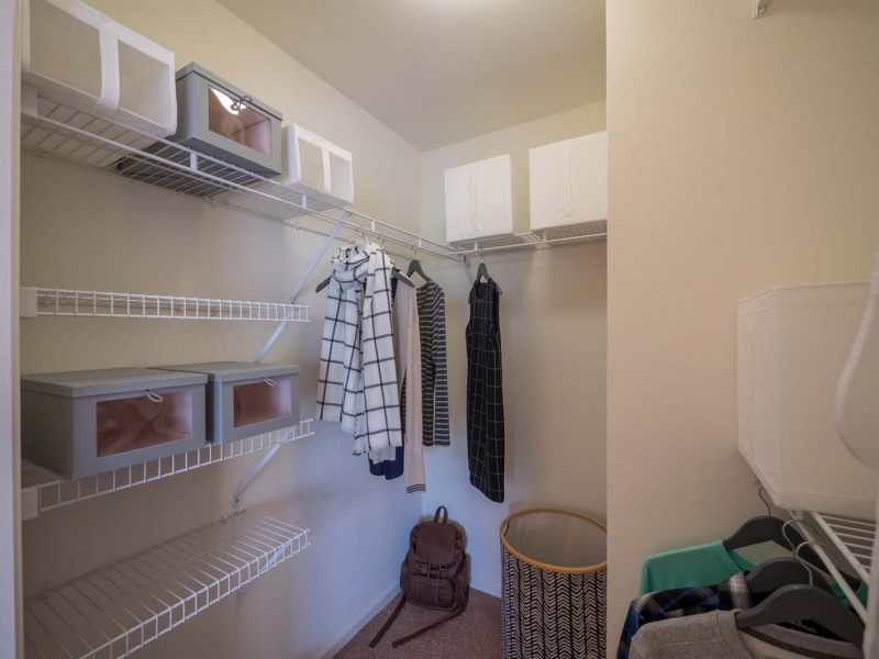 This image shows the premium apartment feature that includes a Walk-in closets that was suitable for an easy area to put your clothes.